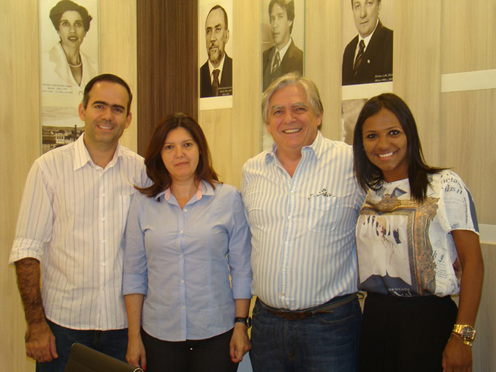 Diretor da Marca Empreendimentos Avelino Cortellini e diretoria da CDL