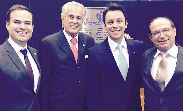 Prefeito Humberto com os deputados federais Cacá Leão, Mario Negromonte Jr e Roberto Brito