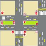 A partir de maio a Avenida JK será preferencial no cruzamento de 3 ruas centrais. Na imagem como  ficará o tráfego após a mudancapa