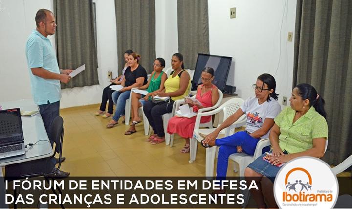 I FORUM DE ENTIDADES EM DEFESA DAS CRIANÇAS E ADOLESCENTEStexto
