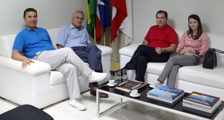 Em visita, diretor-presidente da Mauricéa agradece prefeito por pedido à Ministra da Agricultura Kátia Abreu