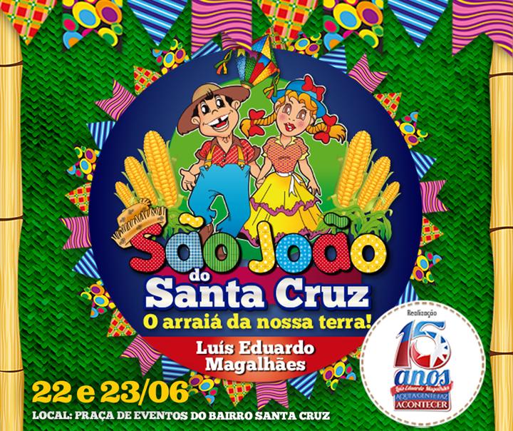 O São João do Santa Cruz acontece nos dias 22 e 23 de junho na Praça de Eventos do Santa Cruztexto