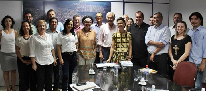 À tarde a programação do festival foi apresentada para o prefeito, secretários municipais e entidades envolvidas