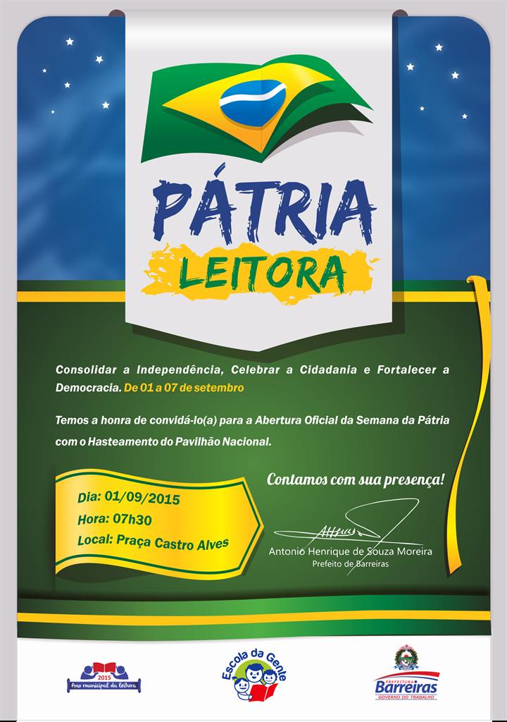 CONVITE ABERTURA DA SEMANA DA PÁTRIA 2015texto