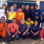 Equipe de servidores municipais que participaram da capacitação de Formação de Brigadas de Prevenção e Combate aos Incêndios Florestaiscapa