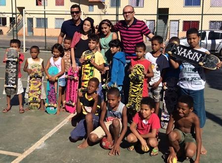 Palestra realizada com as crianças e adolescentes do Residencial Sol do Cerradotexto