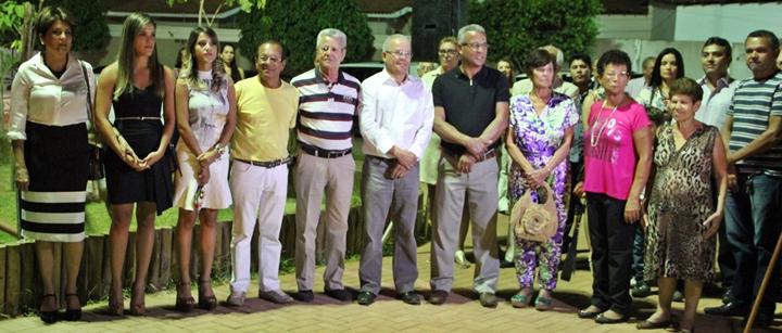 Os irmãos do homenageado Dr. Geraldo Nunes marcaram presença na inauguração