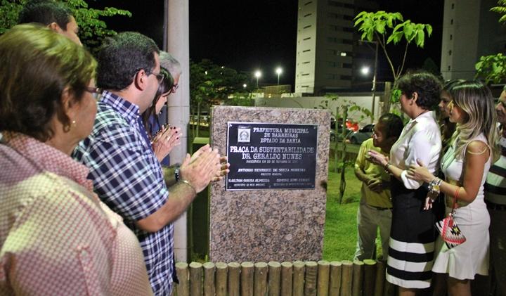 Descerramento da placa de inauguração