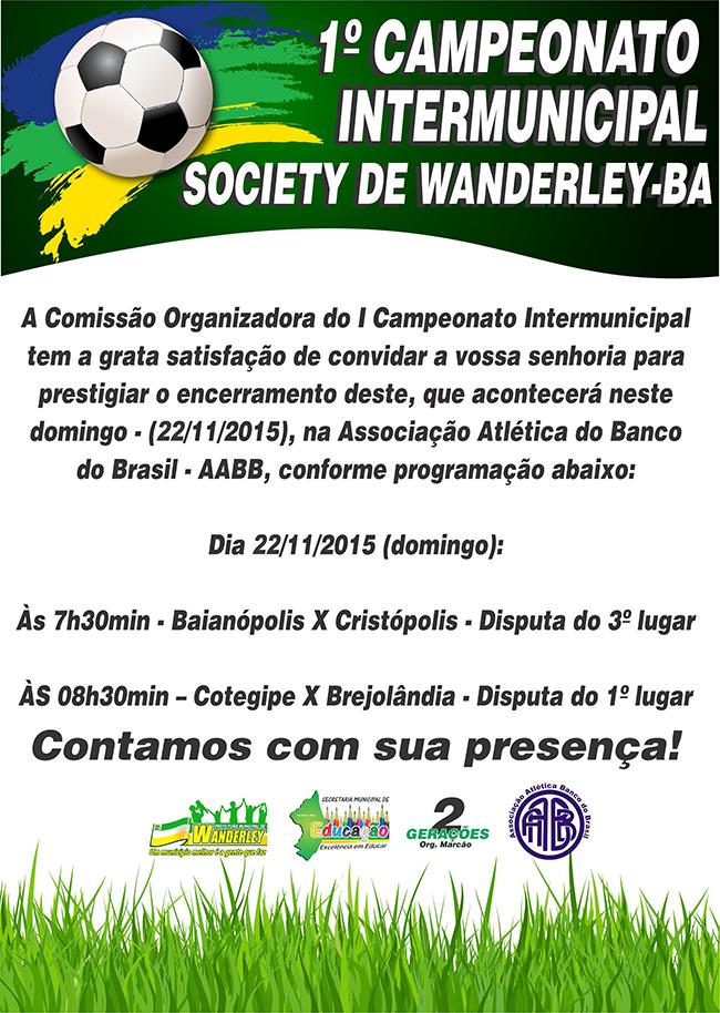 Convite Campeonato